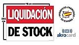 Cartel resistente PVC - LIQUIDACION DE STOCK - Señaletica de aviso - ideal para colgar y advertir