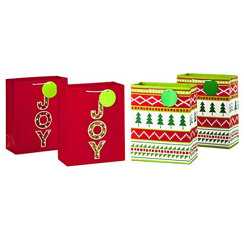 Hallmark 12' Large Christmas Gift Bags (Pack of 2; Snowflakes and Merry Christmas)