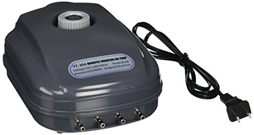SUN YT-304 18 LPM Aquarium Air Pump with 4 Outlets, 8.5W, 120 Gallon