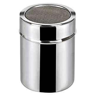 TRIXES Stainless Steel Fine Flour Icing Cocoa Spice Powder Sifter Shaker (B01EYW3WQI) | Amazon price tracker / tracking, Amazon price history charts, Amazon price watches, Amazon price drop alerts