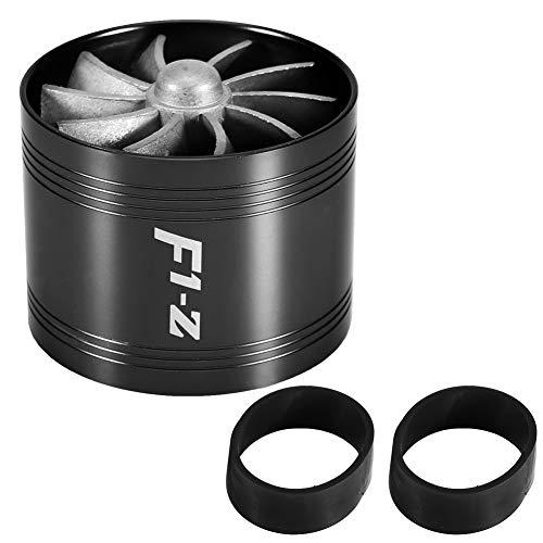 KIMISS Turbonador de admisión de aire del coche Turbina de ventilador único Cargador estupendo Gas Ahorro de combustible Turbo Admisión de aire Turbo 64mm (Negro)
