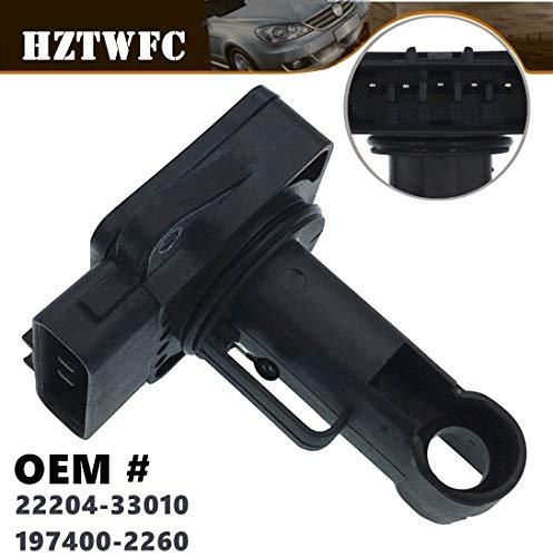 HZTWFC Capteur de débit d'air OEM # 22204-33010 197400-2260 pour Toyota Auris Corolla Hiace Land Cruiser Prado Yaris Vitz