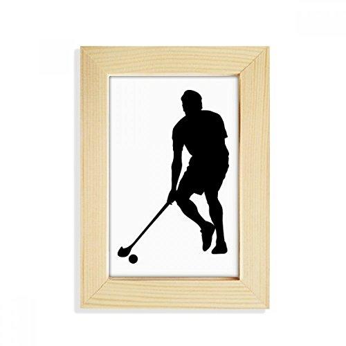 DIYthinker Physical EduKatzeion Hockey-Sport-laufende Desktop-HÖlz-Bilderrahmen Fotokunst-Malerei Passt 10.2 x 15.2cm (4 x 6 Zoll) Bild Mehrfarbig