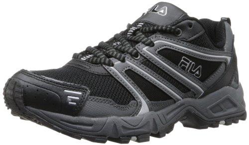 Fila Men's Ascent 8-m, Black/Castlerock/Metallic Silver, 10.5 M US