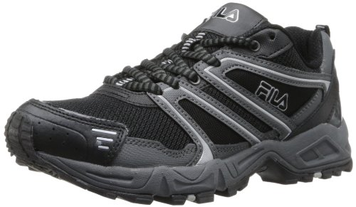 Fila Men's Ascent 8-m, Black/Castlerock/Metallic Silver, 11 M US