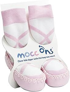 Mocc Ons Cute Estilo Mocasín Calcetines De Pantufla rosa bailarina Talla:2-3 años