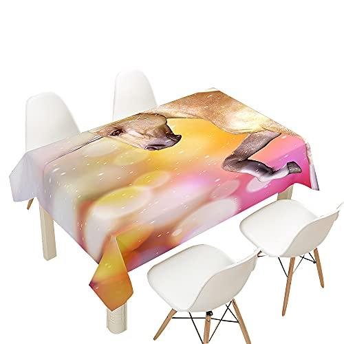 FANSU Tovaglia Idrorepellente, Rettangolare Impermeabile Antimacchia 3D Unicorno Cucina Lavabile Copritavolo Quadrata Tavolo Panno per Sala da Pranzo Giardino (Sognare,140x260cm)