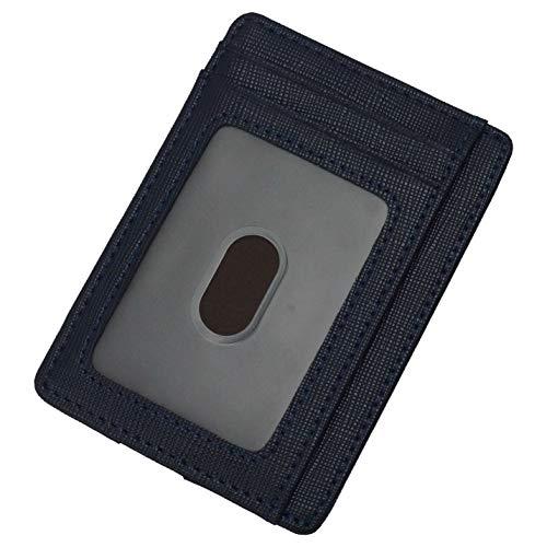 prendre カードケース スキミング防止 カード入れ スリム 両面 コンパクト おしゃれ 薄型 磁気防止 レディース メンズ rfid (ネイビー) PR-TQ-301-NV