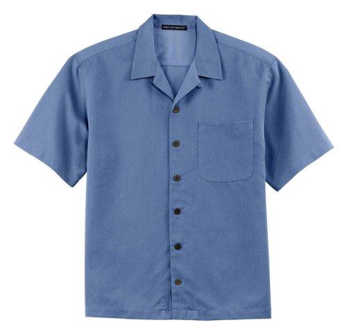 Port Authority Easy Care Camp Shirt, Blue, Medium