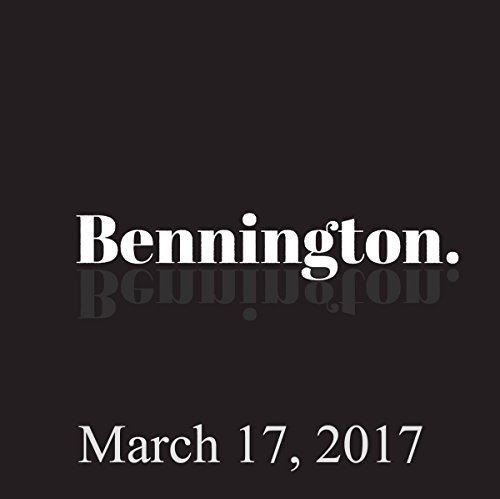 Bennington, Danny Boyle, March 17, 2017 audiobook cover art