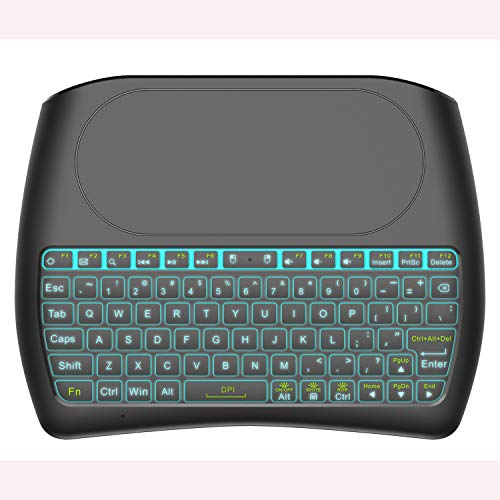 LIHETUN Air Remote Mouse,Mini Wireless Keyboard IR Learning 2.4G Gyro USB Remote Control Mini Wireless Keyboard,for Chromebox Android Smart TV Box HTPC Projector PC (057)