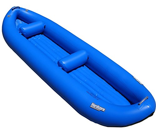 Hardcore Water Sports Inflatable 2 Person Whitewater Kayak (Blue)