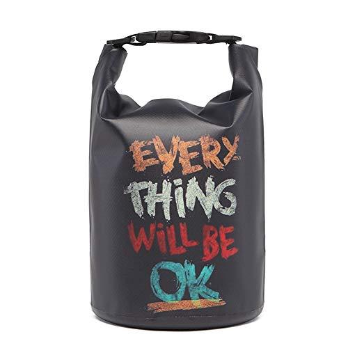 Icegrey Bolsa Estanca Seca Impermeable Dry Bag para Rafting, Kayak navegación Senderismo, esquí, Buceo, Pesca, Escalada, Camping Negro 20L