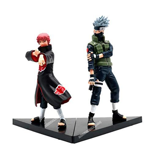 Yangzou 2 Unids 15-18 Cm Anime Naruto Shippuden Hatake Kakashi Vs Sasori PVC Figuras De Acción...
