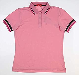 New Womens G/Fore Tipped Pique Golf Polo Medium M Sea Pink G4LS19K30