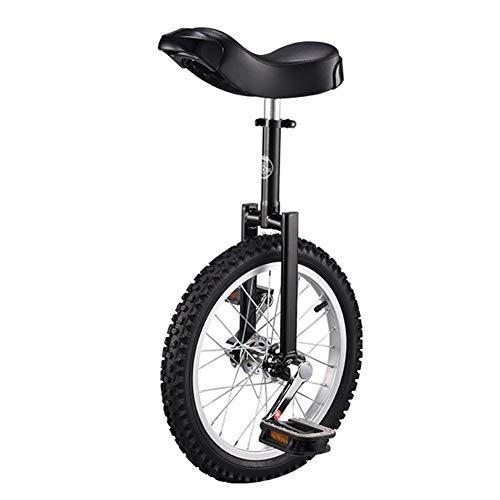 Lhh Einrad 16-Zoll-Rad Einrad Für Kinder mit Leichtmetallfelge, Extra Dickem Reifen für Outdoor-Sport Fitness Fitness Gesundheit, Ergonomisches Design Sattel (Color : Black)