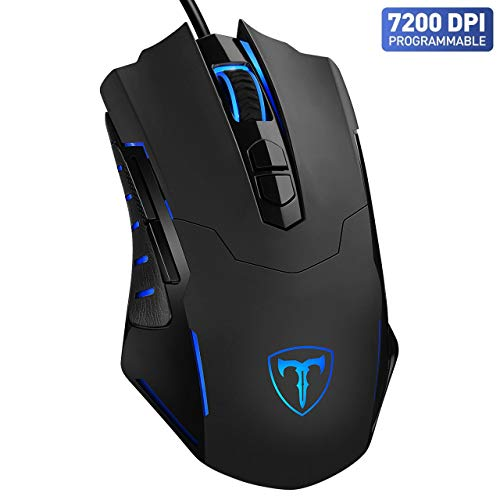 Gaming Mouse【7200 DPI & 7 Programmable Buttons】VicTsing Professional Wired Mouse, Comfortable Full Size Mice with Software to Customize Color, DPI, Polling rate etc. - Plug & Play, Perfect Gaming