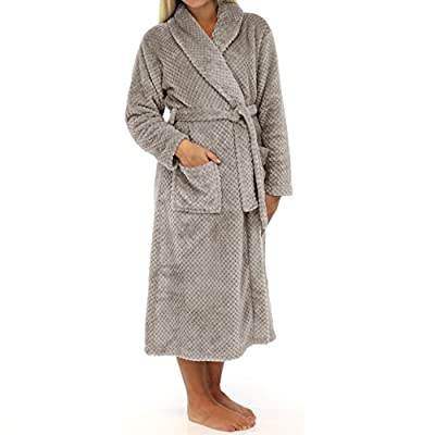 Cheer Collection Luxurious Plush Bathrobe | Ultra Soft Large Flannel Hotel Spa Robe With Shawl Collar