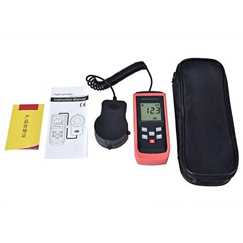 Oumefar Medidor de iluminancia Digital de luxómetro de Alta precisión Resistente al...