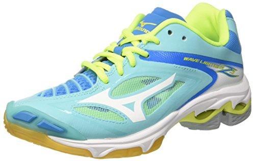 Mizuno Damen Wave Lightning Z3 W Volleyballschuhe, Mehrfarbig (Blueradiance/White/Divablue), 42 EU