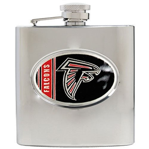 NFL Atlanta Falcons 6oz Stainless Steel Hip Flask