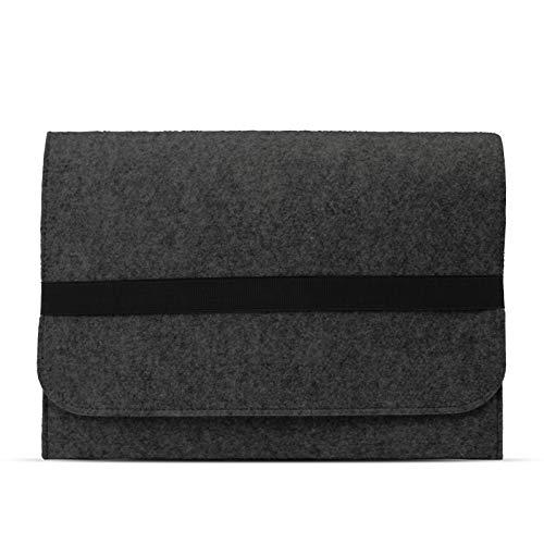 eFabrik Schutzhülle für Acer Travelmate Spin B1 Tasche aus Filz 11,6 Zoll Filztasche Hülle Sleeve Soft Cover Schutztasche Sleeve, Farbe:Dunkelgrau