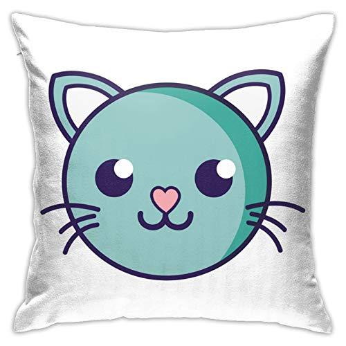 Happy Cat Coloring Graffiti Kit de decoración de funda de almohada cuadrada de 45,72 x 18 pulgadas