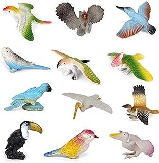 SaleON 12pcs Different Kinds Birds Toy Set Plastic Birds Play Toys Bird Model Action & Figures Best Gift for Kids Developm...