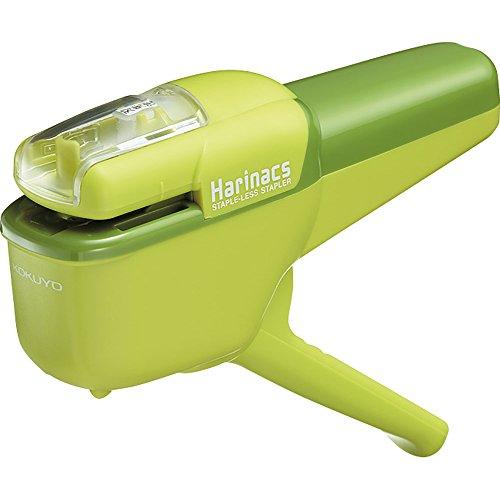 コクヨ 針なしステープラー ハリナックス ハンディ 10枚とじ 緑 SLN-MSH110G