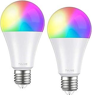comprar comparacion Bombilla LED Inteligente WiFi, TVLIVE 2 Pack 10W E27 Bombilla LED Luces Cálidas/Frías & RGB, Lámpara WiFi Funciona con Ale...