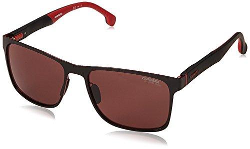 Carrera Men's CA8026/S Square Polarized Sunglasses, Black/Burgunday, 57 mm