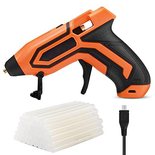 Heißklebepistole, Klebepistole mit 50 Klebesticks (140 mm * 7,2 mm), schnelle Aufheizung für Hobby, Kunst & Handwerk und alltägliche Reparaturen