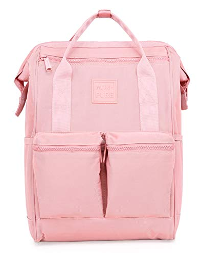 HotStyle MOREPURE 239s Fashion Blumen Damen Laptop Rucksack 14 Zoll (44x27x17cm), Millennial Pink