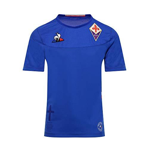 Le Coq Sportif Jungen Fiorentina Replica Dom Ss Unterhemd, Blau (Bleu Camuset), 8 años