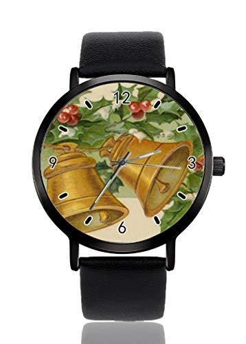 Reloj de Pulsera Vintage de Navidad con Campanas Doradas y Acebo de...