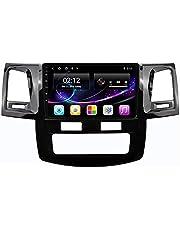 Android 10.0 Autoradio Sat Nav voor Toy-ota Fortuner Hilux 2008-2015 IPS Touchscreen Autoradio Dab Sat Nav Ondersteuning Stuurbediening BT Mirror-Link FM 4G WIFI