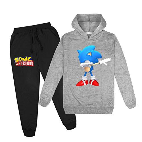 mama stadt Sportswear Sets für Mädchen Jungen Sonic The Hedgehog Kapuzenpullover Sweatshirt Jogginghose Trainingsanzüge/110