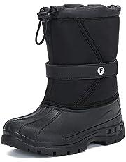 [Putu] スノーブーツ キッズ ジュニア 防寒 防水 ブーツ 裏ボア 暖かい ウィンターブーツ 男の子 女の子 ショートブーツ 冬用ブーツ 18.0cm
