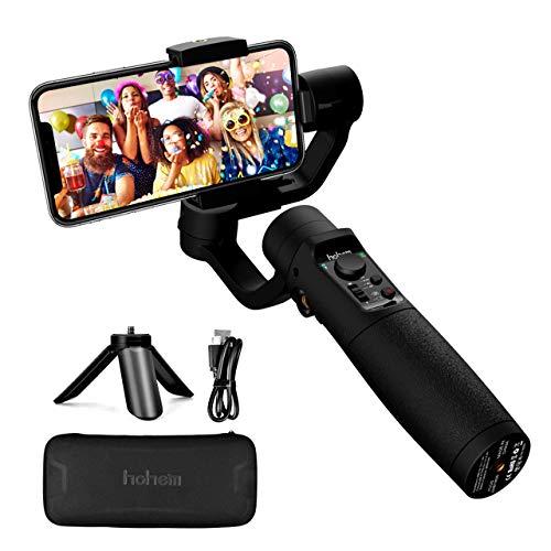 Gimbal Estabilizador para Móvil, 3-Ejes Gimbal Movil con 6 Modos, Gimbal Stabilizer Ligero con Batería Soporte para 12H, Carga 280g, Ideal para Smartphone iOS&Android iPhone/Huawei/Samsung/Xiaomi etc