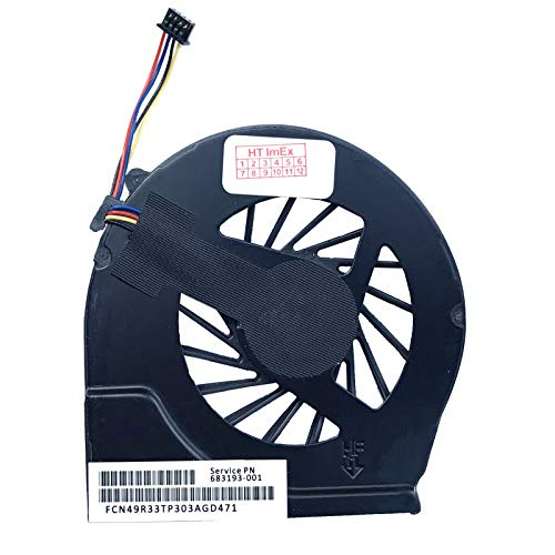 Lüfter/Kühler - Fan komaptibel für HP Pavilion g6-2101sg, g6-2207sg, g6-2253sg, g6-2345sg, G4-2008TX, G4-2024TX, G4-2118TX, G4-2213TU, g7-2148sg, g7-2227sg, g7-2258sg, g7-2350sg