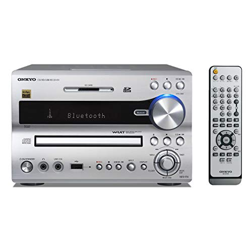 ONKYO CD/SD/USBレシーバー シルバー NFR-9TX(S) + ONKYO 2ウェイスピーカーシステム (2台1組) D-NFR9TX(D) セット 【国内正規品】