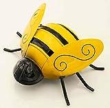 E+N Biene Garten-Deko Wand-Schmuck Blumen-Beet gelb/schwarz 19x8x15cm, zum Hängen, Metall lackiert