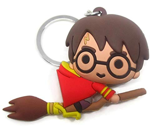 Sleutelhanger Harry Potter 3D Bezem Quidditch Grifono Monogram 7 cm Serie 3