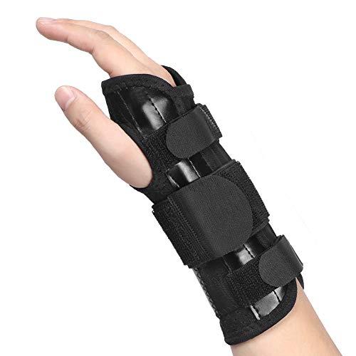 Haofy Handgelenkschiene Handgelenkbandage für Karpaltunnelsyndrom, Leder Handgelenkstütze Handgelenkorthese, Handgelenkschoner Schmerzlinderung für Sehnenscheidenentzündung Arthritis,Links Rechts Hand