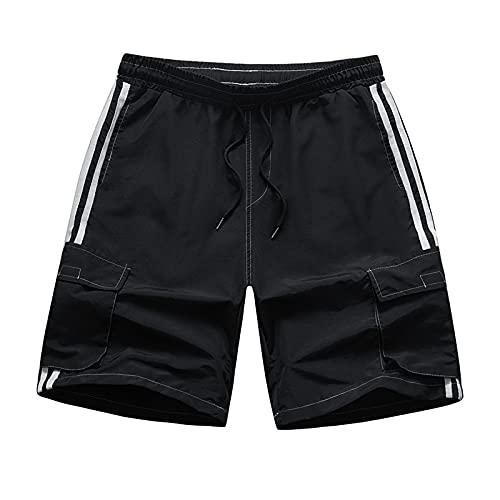 Pantalones Cortos para Correr para Hombre, Entrenamiento Deportivo, Pantalones Deportivos de Verano, Pantalones de Playa Transpirables de Secado rápido Europeos y Americanos XXL