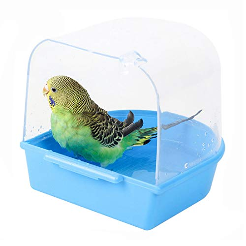 kathson Bird Cage Bath Parakeet Bathing Tube for Budgie Conure Parakeet Finch Canary Cockatiel Parrot Lovebird (Random Color)