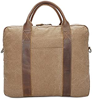 Mens Bag Shoulder Bag Simple Retro Briefcase Zippered Crossbody Bag High capacity
