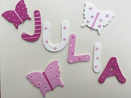 Tolle Holzbuchstaben für Kinderzimmer-Tür, Schmetterling