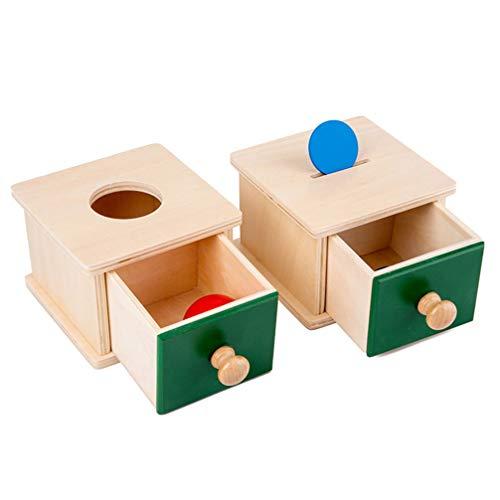 Gadpiparty Montessori - Caja para niños con bandeja y pelota