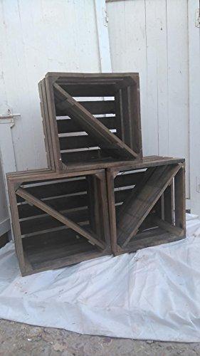 DECORANDO CON SAM Lote 2 Cajas DE Madera para Almacenamiento Vino Tipo Caja Fruta